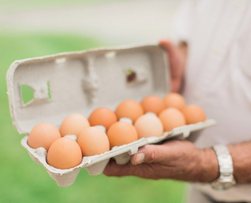 all natural, pastured eggs