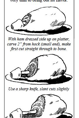 holiday ham carving