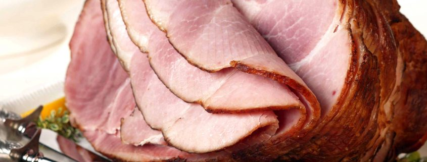 all-natural ham sliced