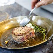 lamb chops and garlic