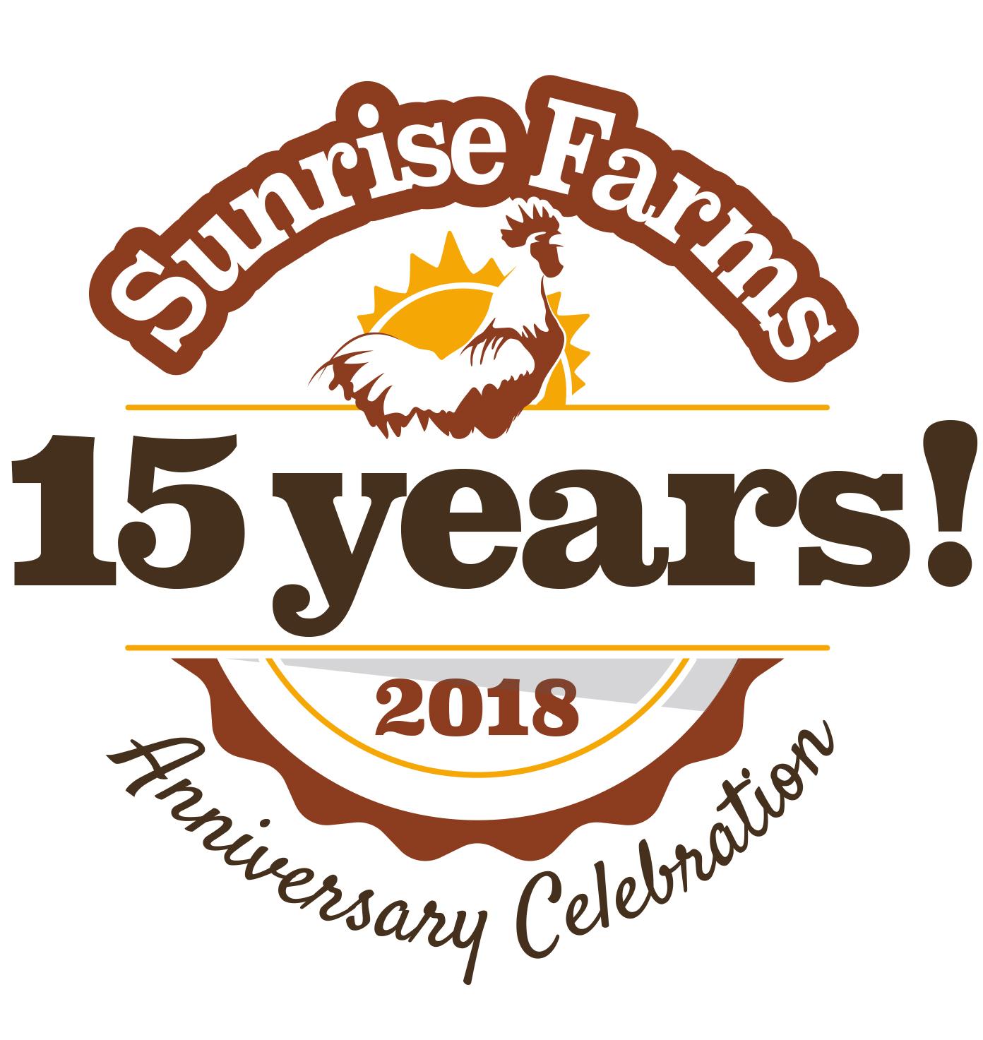 15 year anniversary banner