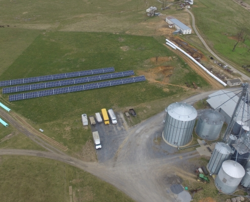 non-gmo mill picture with solar panels
