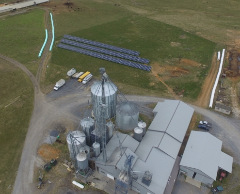 non-gmo mill and solar panels
